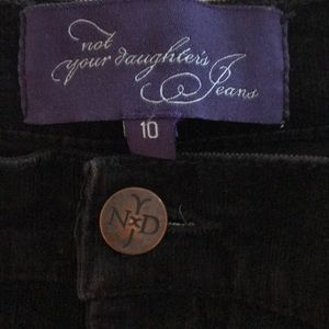 NYDJ Velvet Jeans Chocolate Brown Size 10 New!